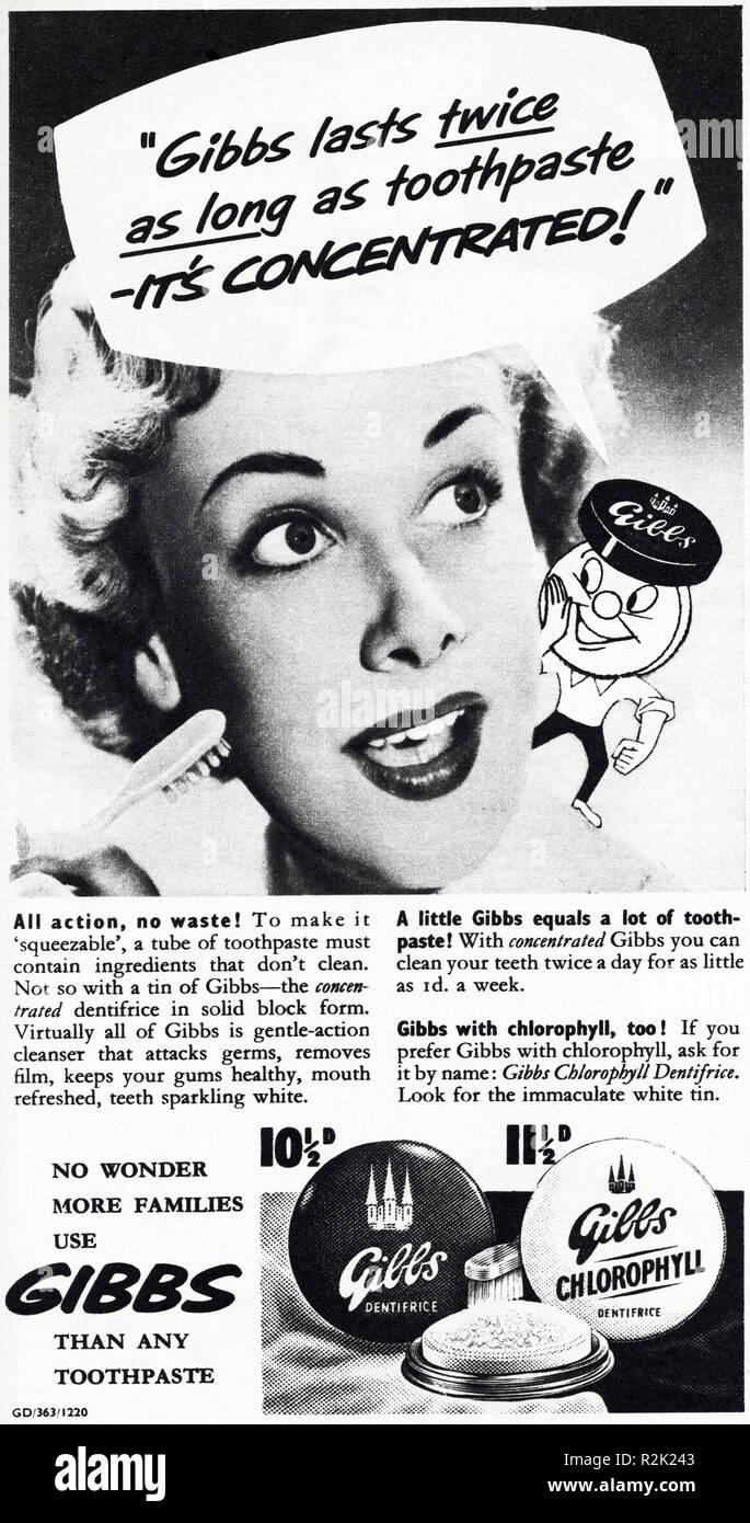 Old Magazine Advert Uk Stock Photos & Old Magazine Advert Uk