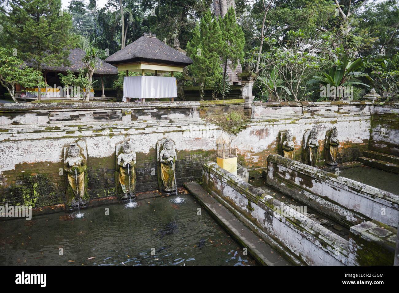 Indonesia, Bali, Ubud, temple 'Pura Goa Gajah', - Stock Image