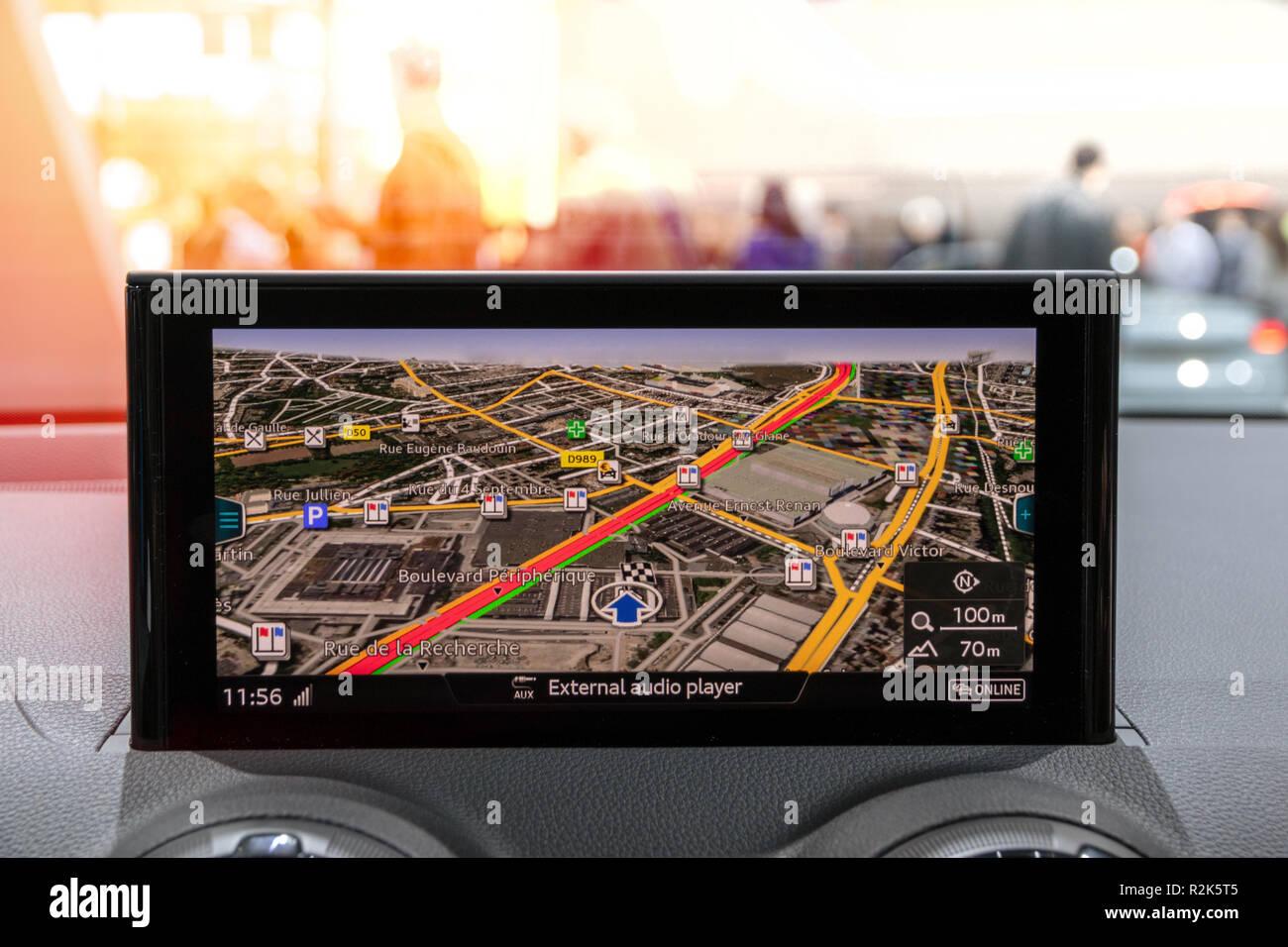 Modern car navigation travel - Stock Image