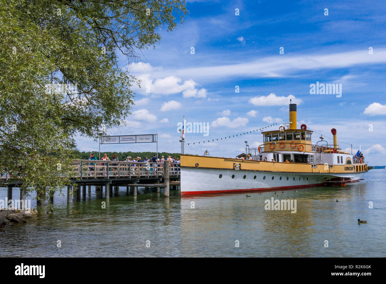 Herrenchiemsee, Chiemsee, Palace, Bavaria, Germany - Stock Image