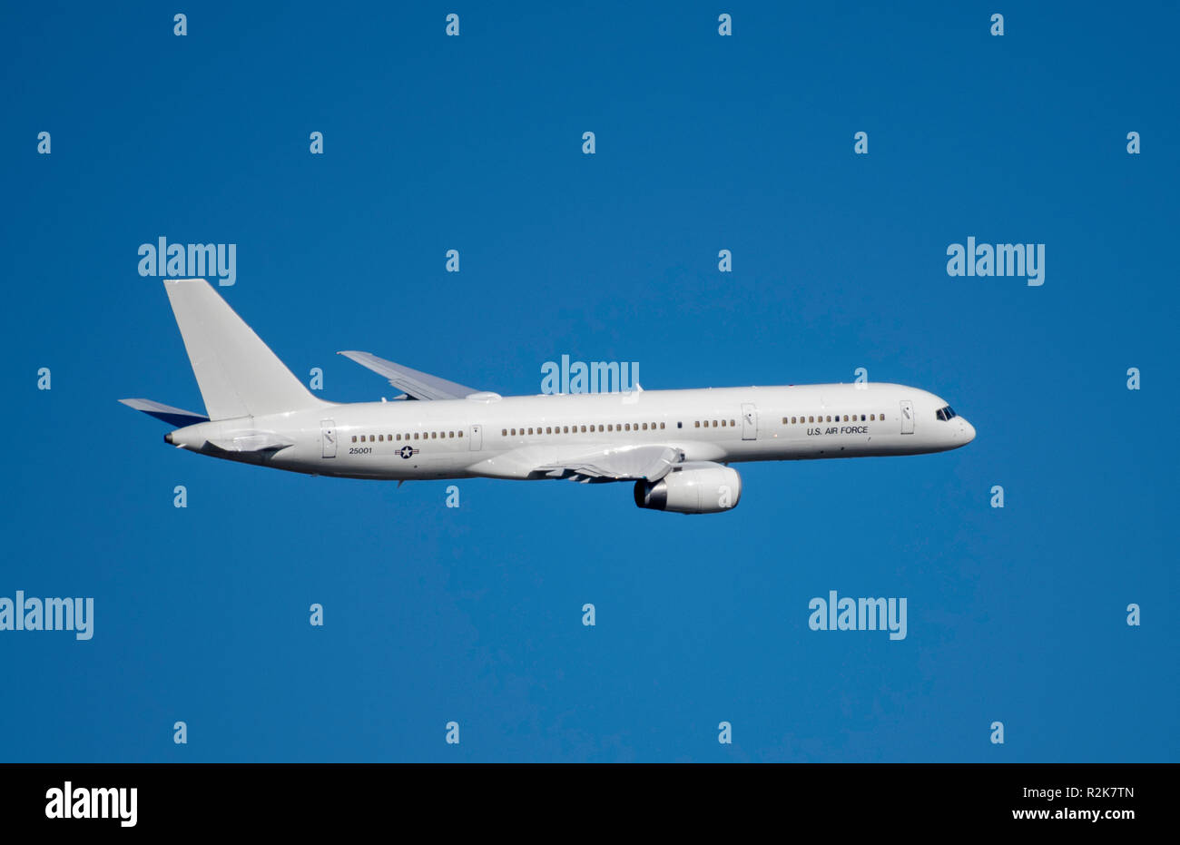 BOSSIER CITY, lA., U.S.A., - NOV. 14, 2018: A Boeing 757 aircraft converted to military use, but having a conspicuous absence of tail number designati - Stock Image
