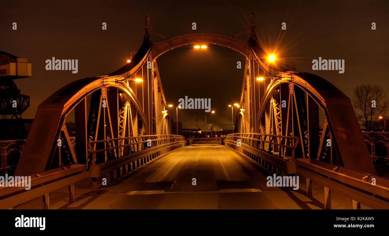 drehbrücke uerdingen Stock Photo