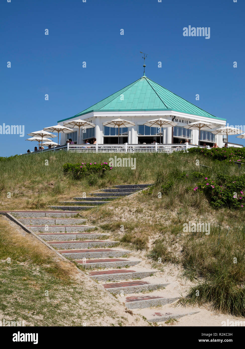 Traditional pub Marienhöhe, Norderney, East Frisian island, Lower saxony, Germany, Europe Stock Photo