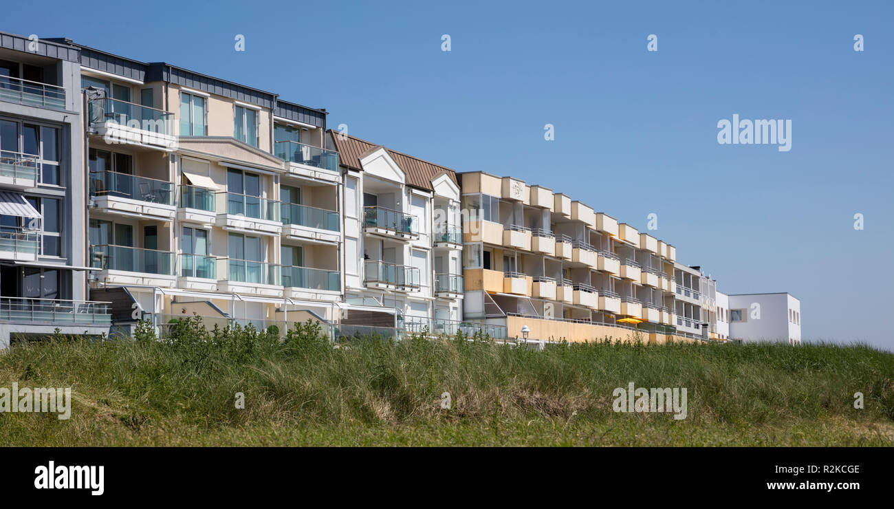 Apartment building, Norderney, East Frisian island, Lower saxony, Germany, Europe Stock Photo