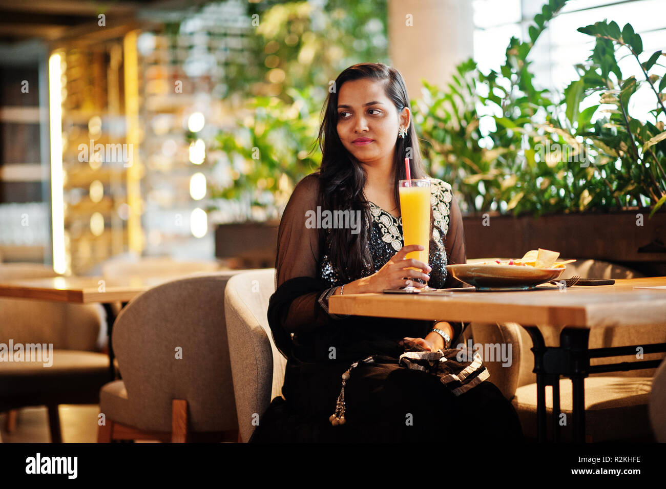 Black Girl In Restaurant