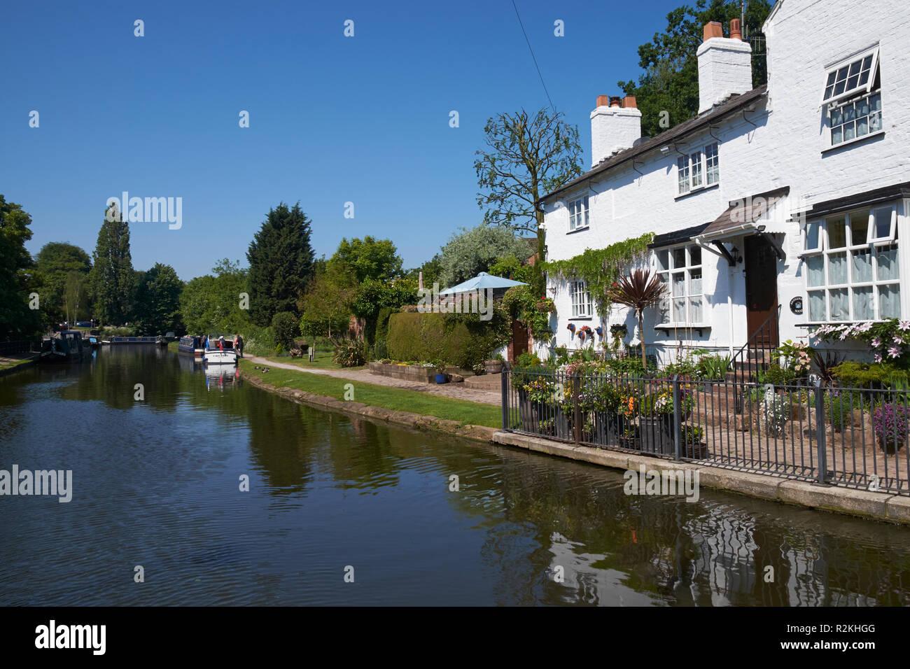 The Bridgewater Canal at Lymm, Cheshire, UK. - Stock Image