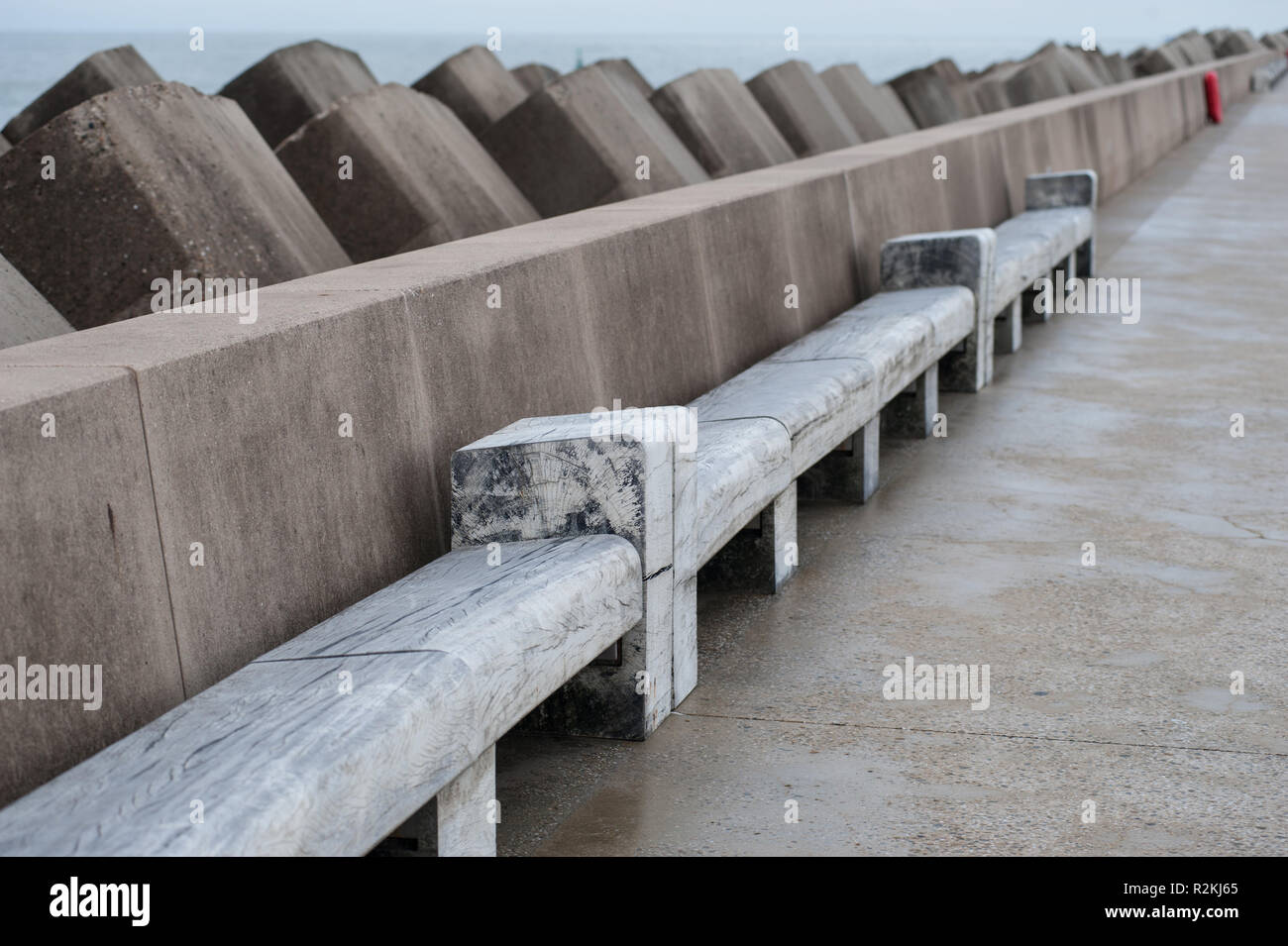 Excellent Concrete Block Bench Stock Photos Concrete Block Bench Evergreenethics Interior Chair Design Evergreenethicsorg
