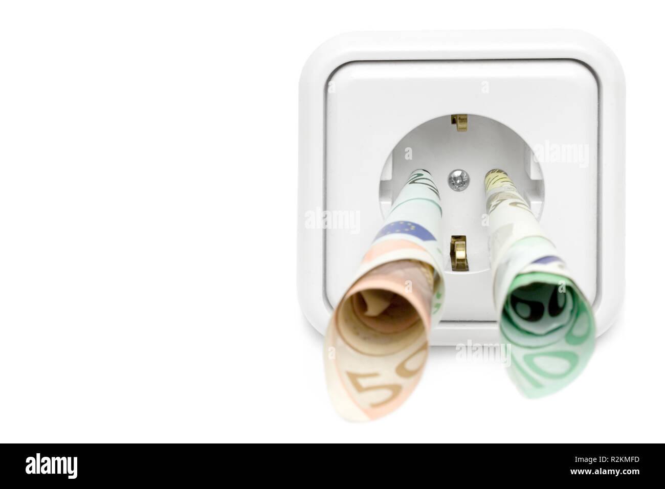 energy prices - Stock Image