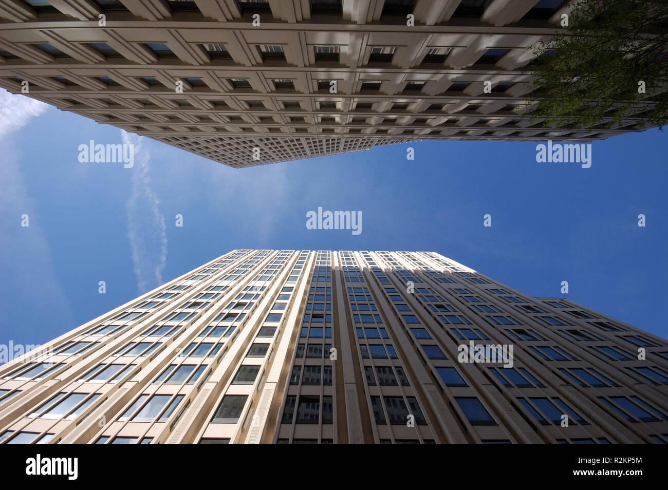 skyscrapers on potsdamer platz in berlin Stock Photo