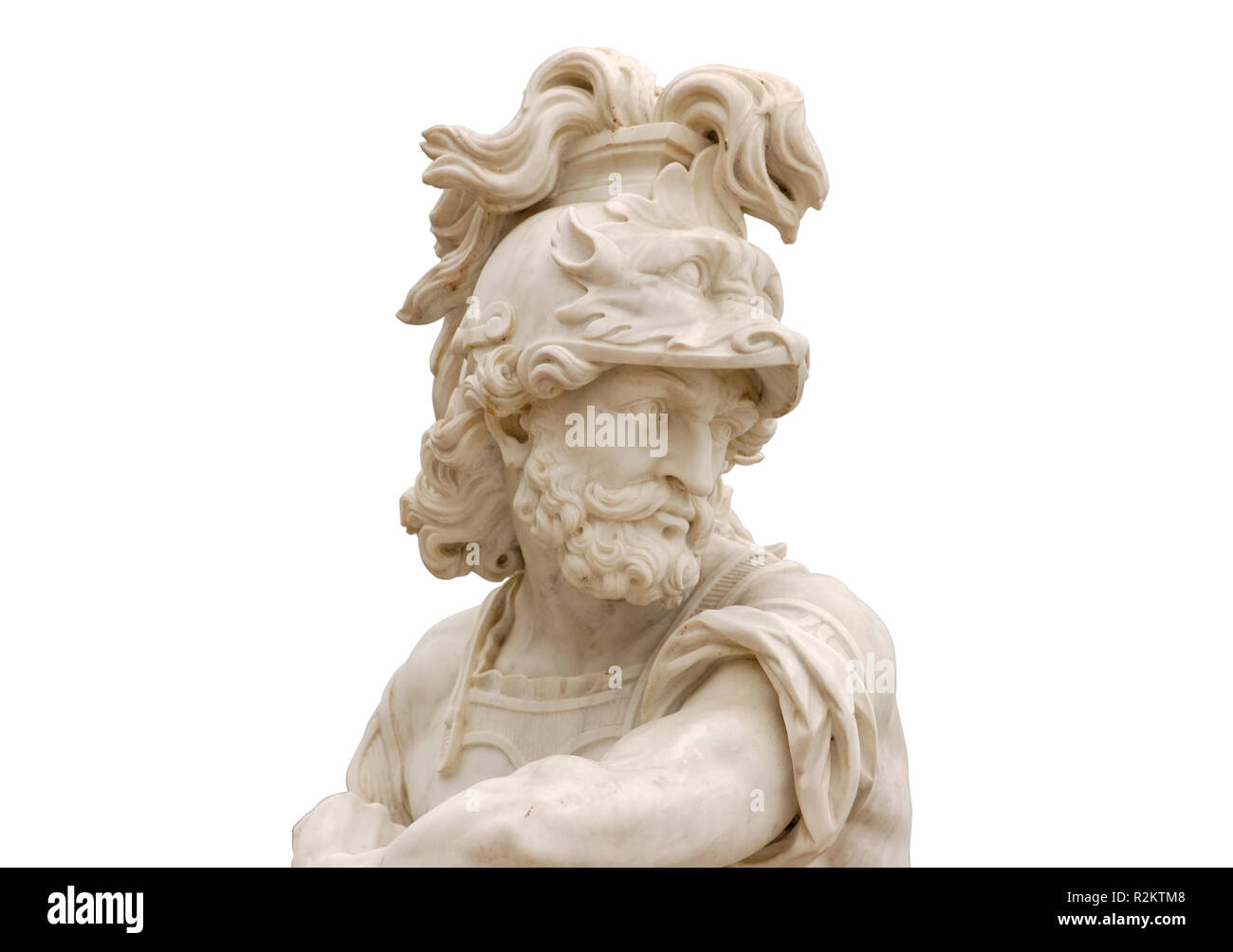 antique statue of a warrior - Stock Image