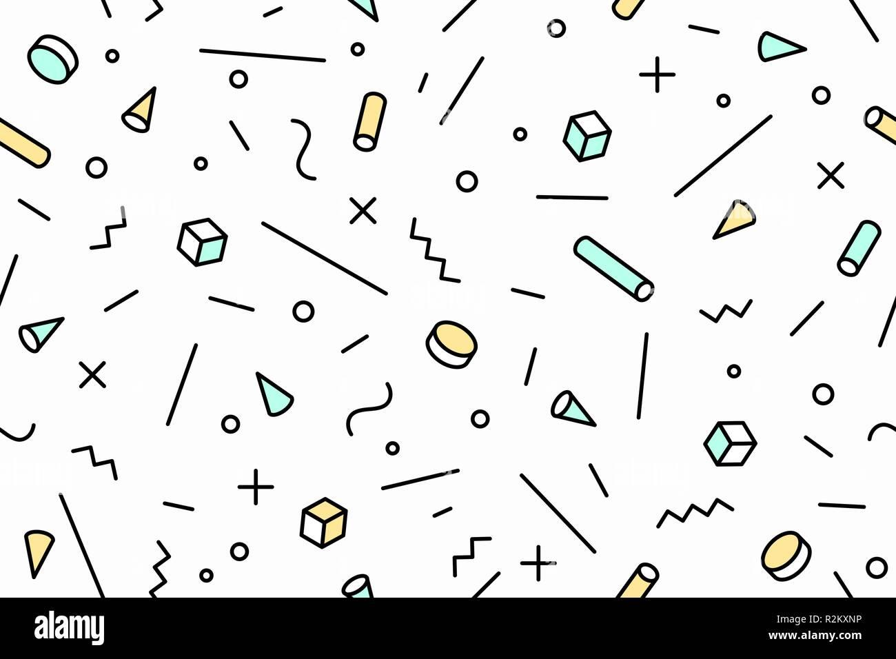 Geometric memphis pattern  Seamless graphic pattern 80s-90s