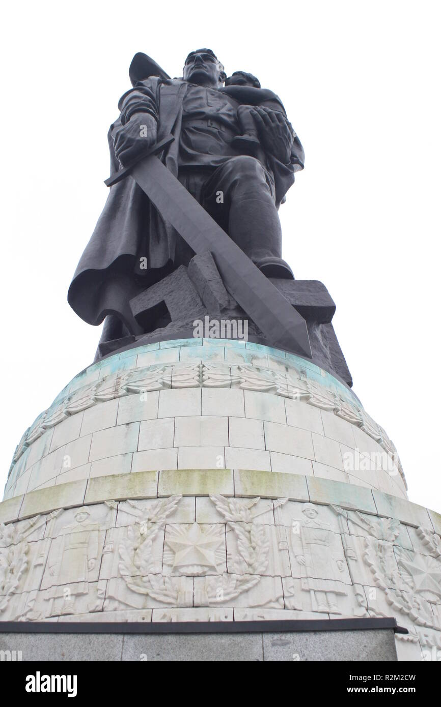 sowj. memorial treptow - Stock Image