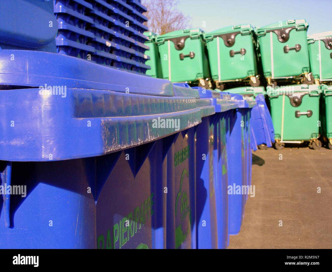 recycling center - Stock Image