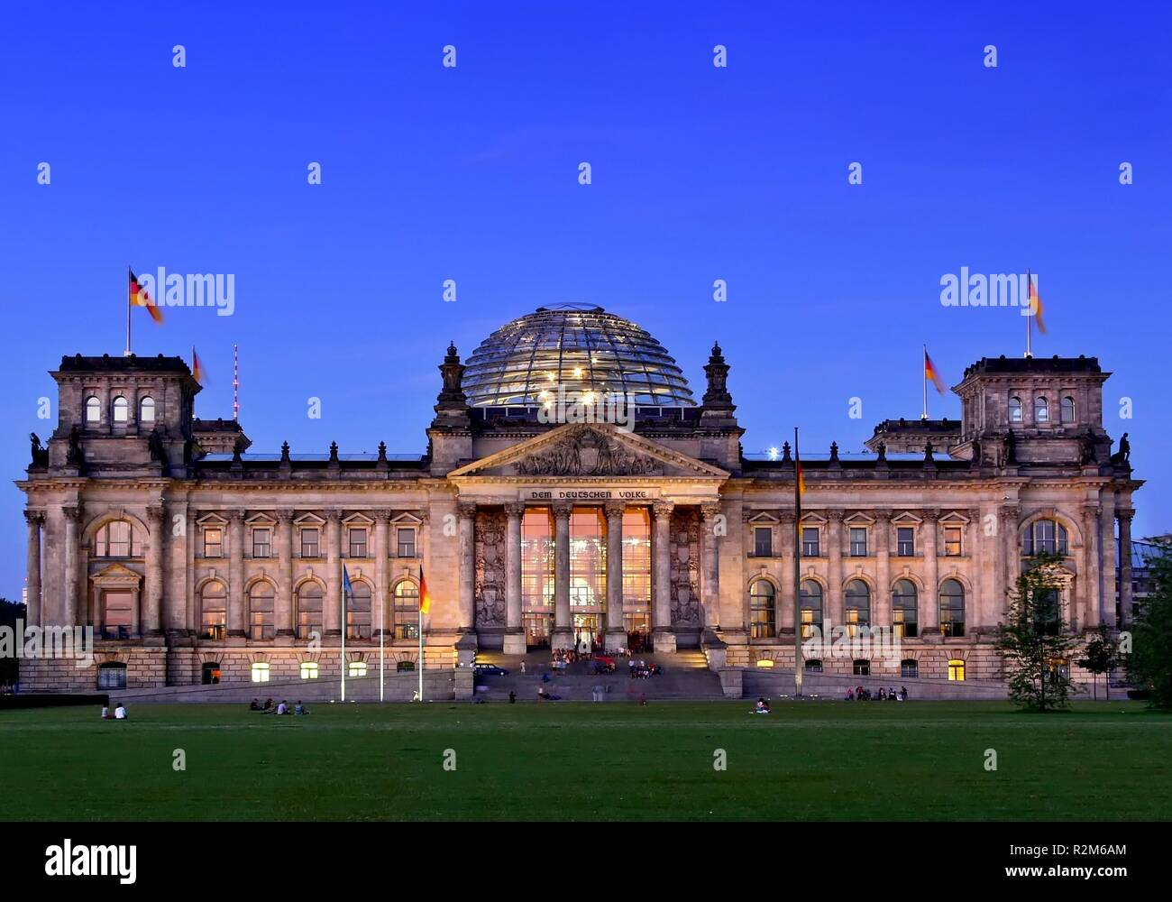 berlin reichstag in the early evening Stock Photo