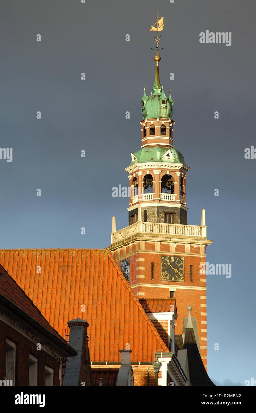 town hall of empty ostfriesland Stock Photo