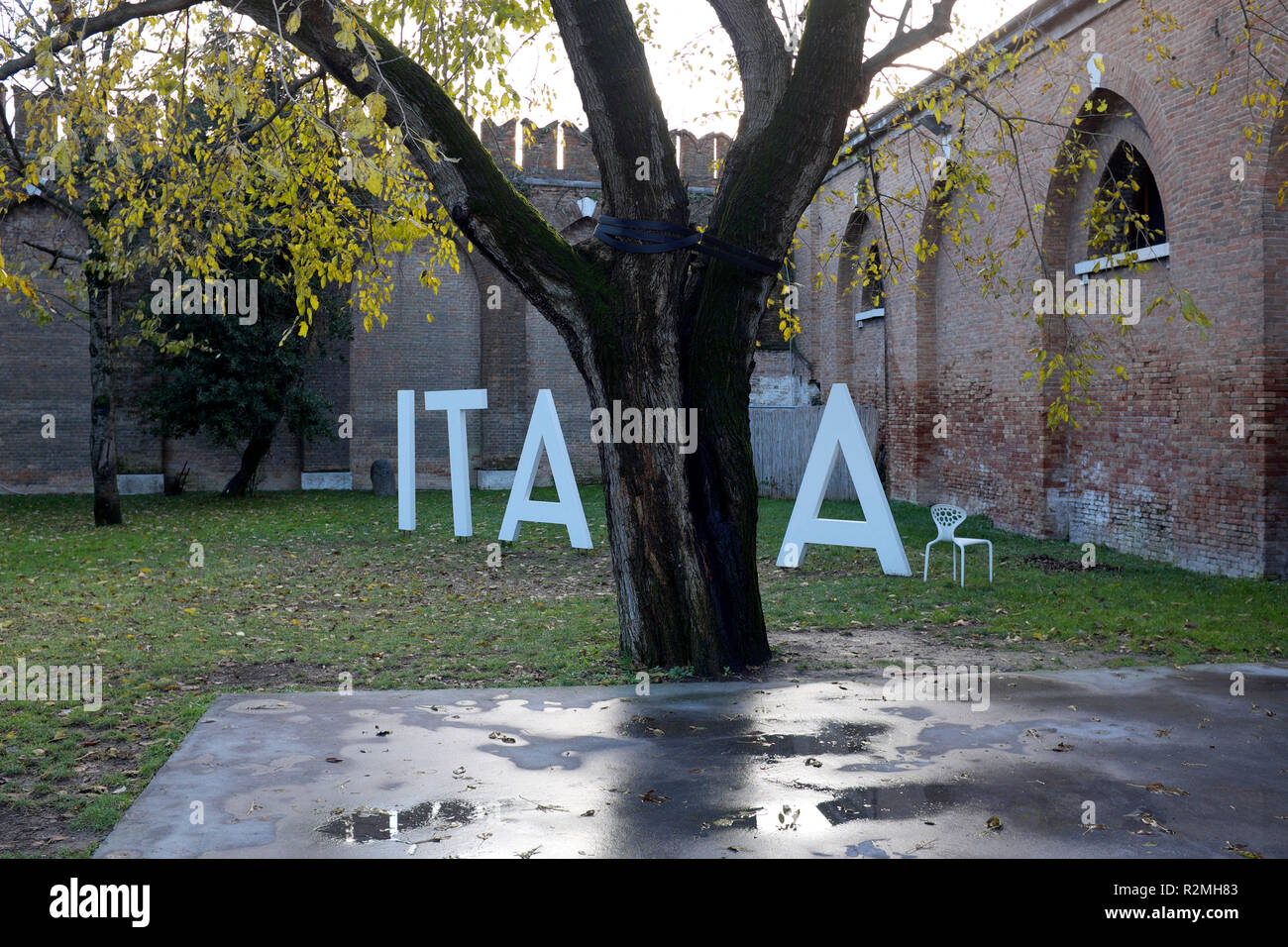 Art at the Venice Biennale - Stock Image