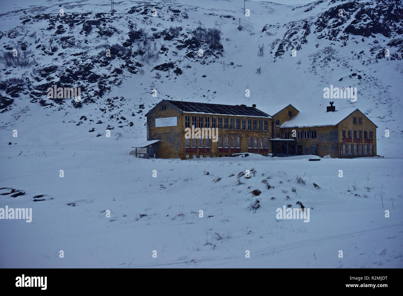 Film location Lengsel etter Nåtid near Honningsvag - Stock Image