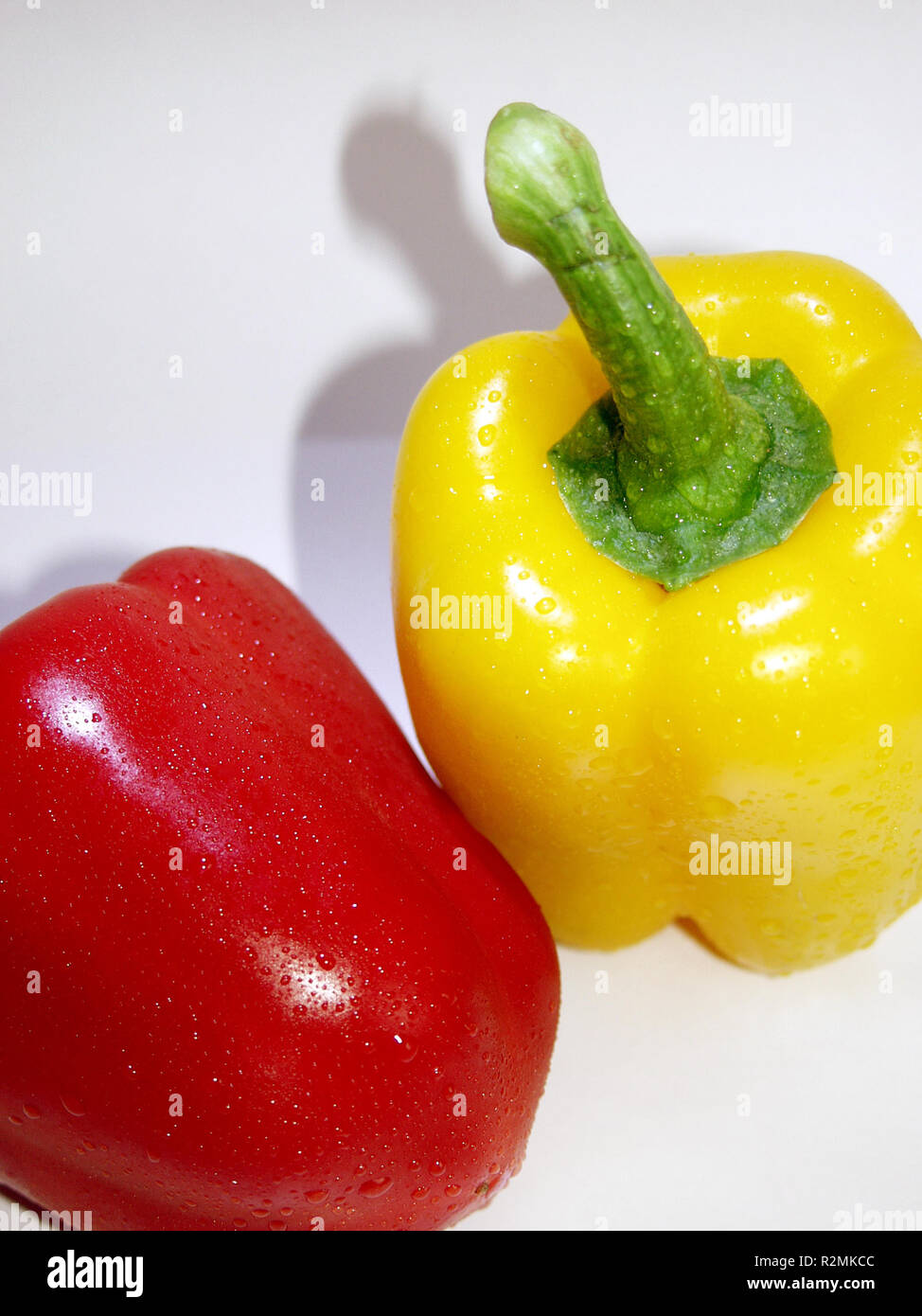 red and yellow paprika - Stock Image