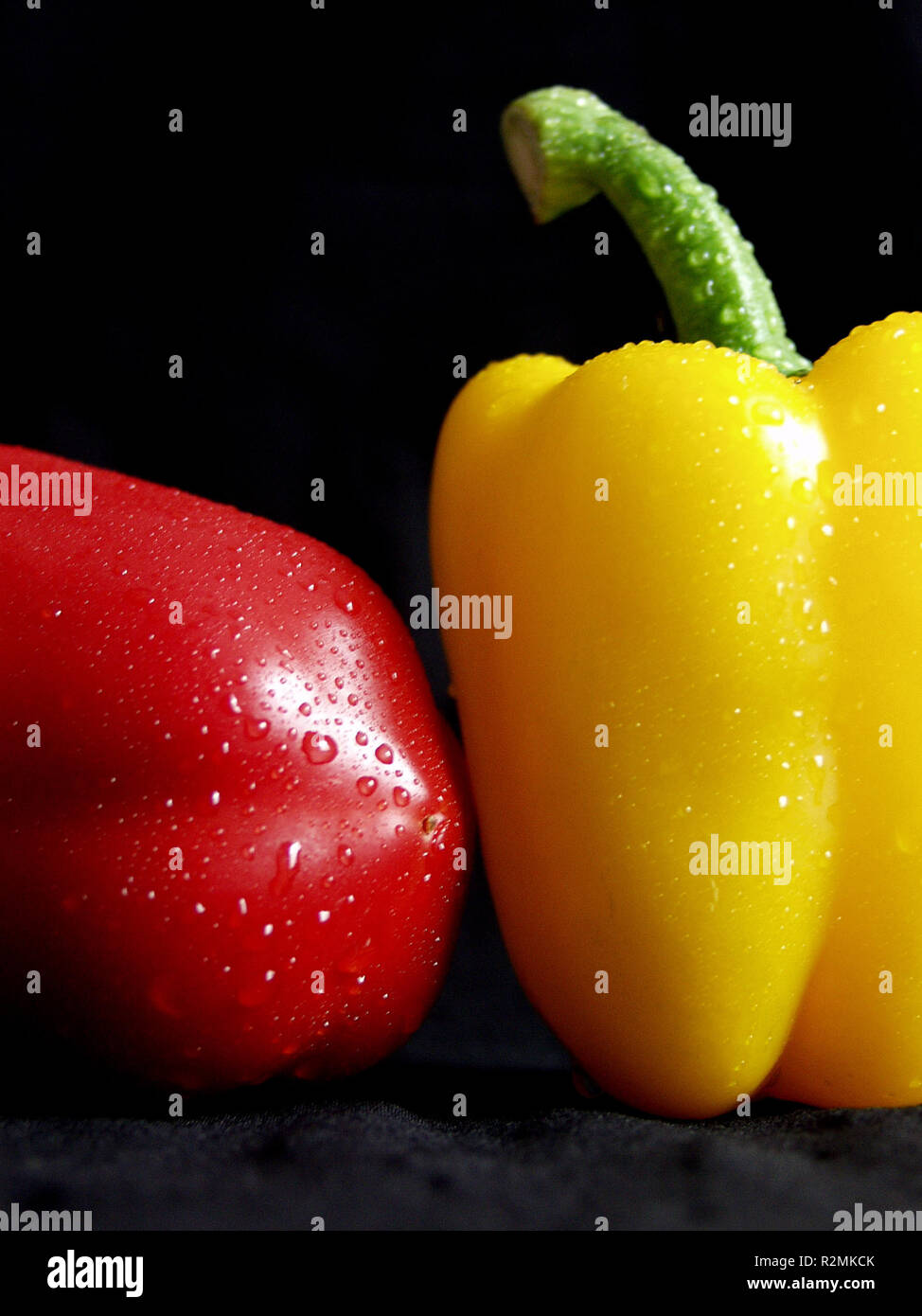 red and yellow pepper - Stock Image