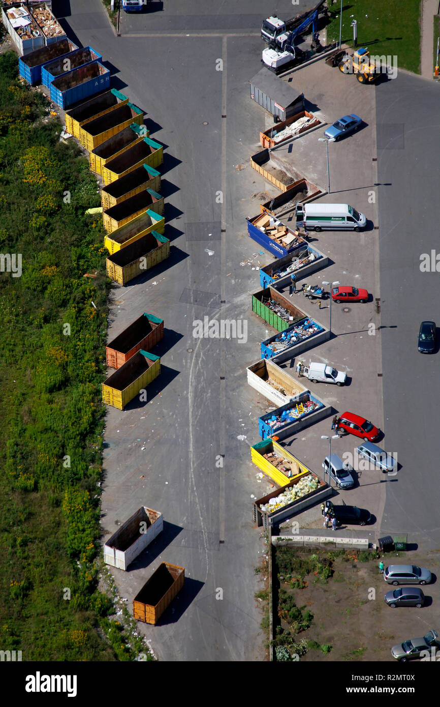 Aerial view, landfill Werthof, Hamm, Ruhr area, North Rhine-Westphalia, Germany, Europe, - Stock Image
