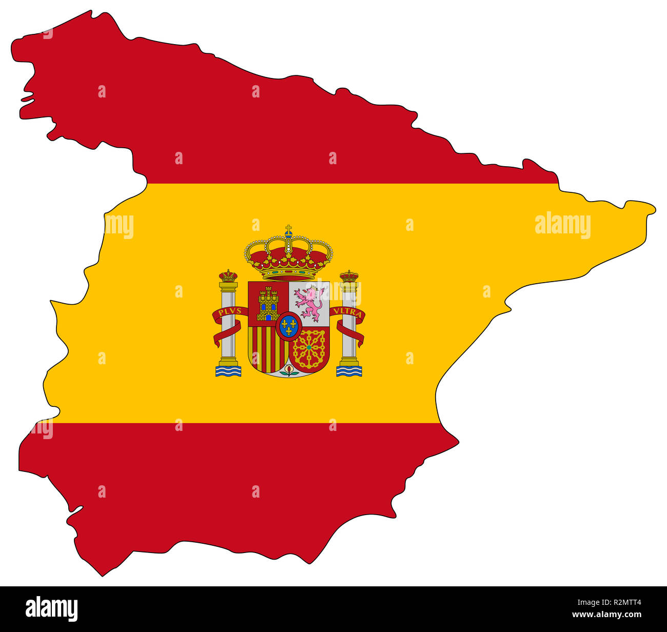 Map Of Spain Drawing.Map Of Spain In National Colors Stock Photo 225422628 Alamy