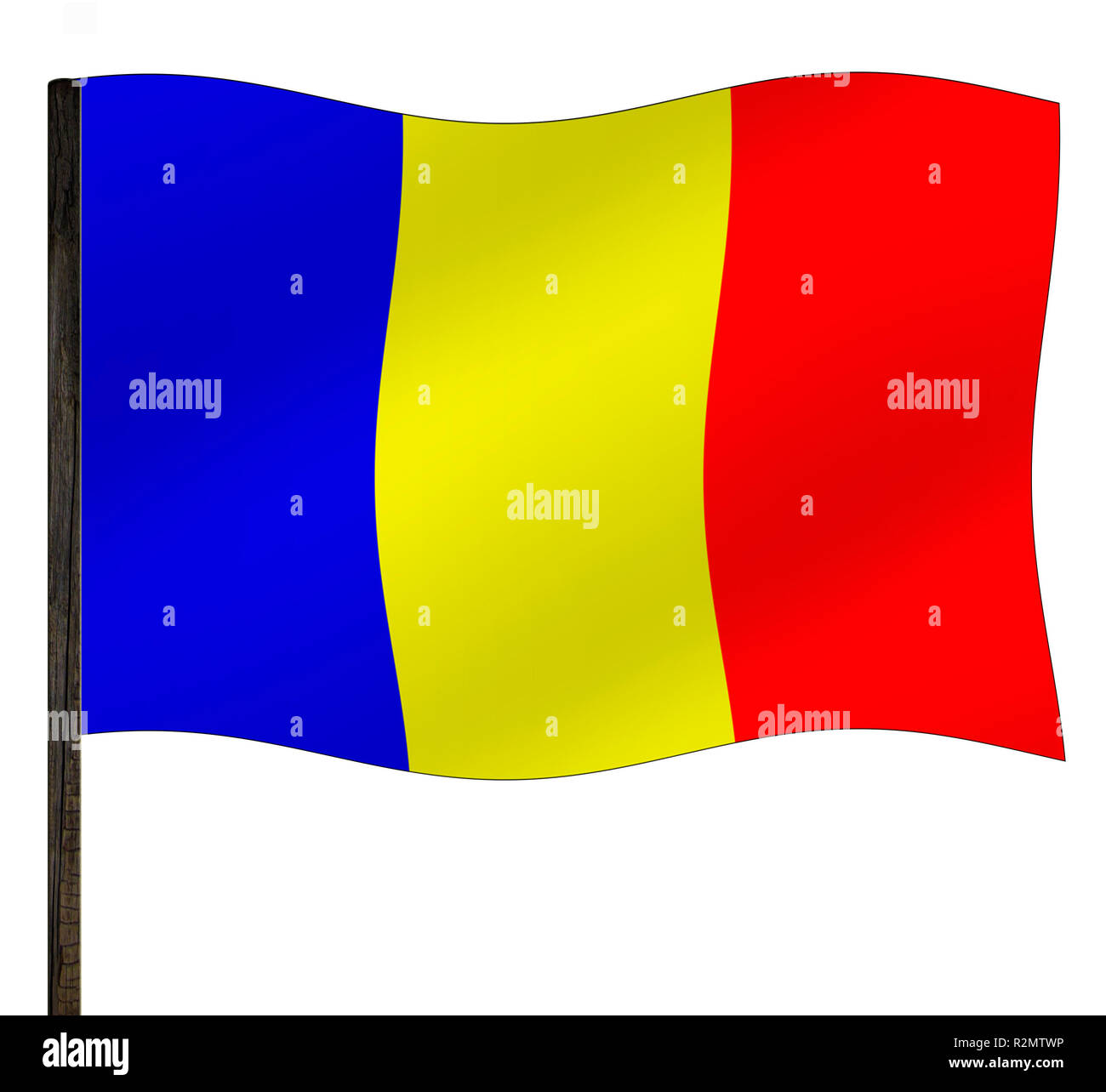 flag chad - Stock Image