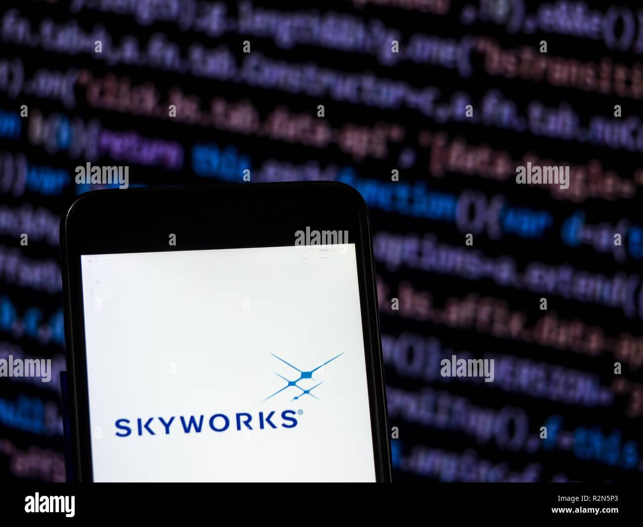 Kiev, Ukraine  20th Nov, 2018  Skyworks Solutions