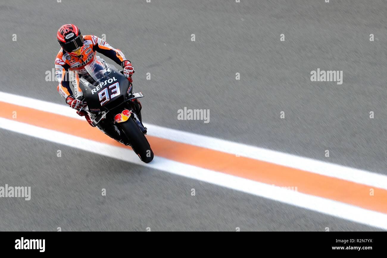 Spanish Motogp Rider Marc Marquez Repsol Honda Is Seen During The