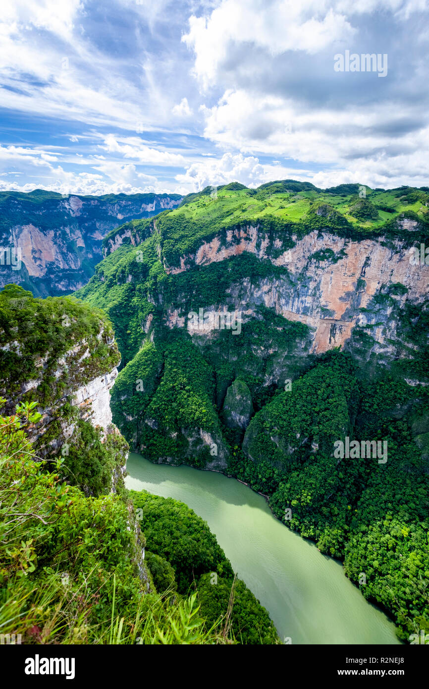 The Sumidero Canyon of Chiapas, Mexico. - Stock Image