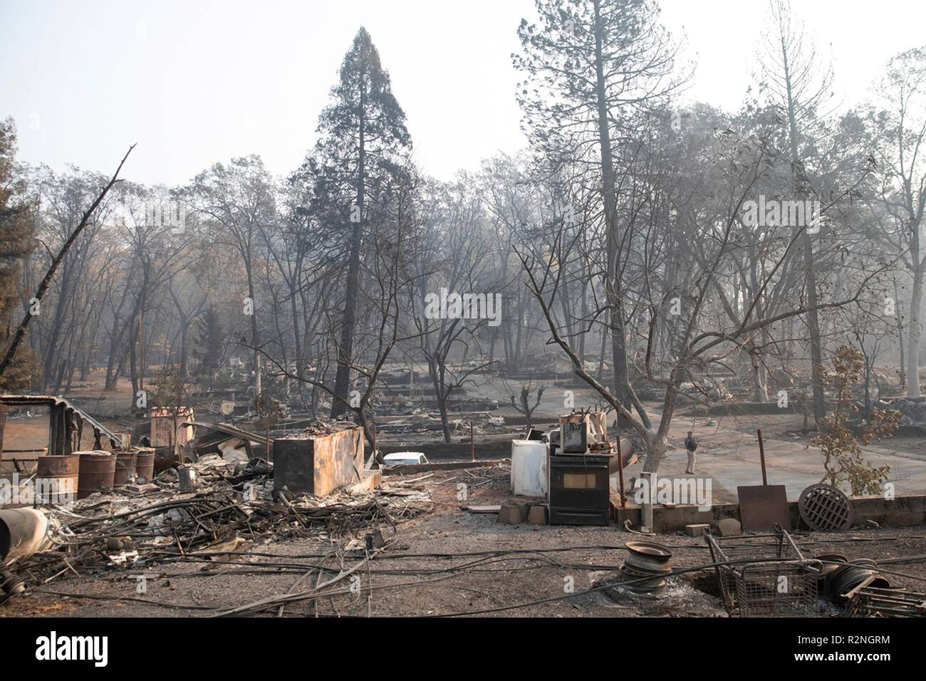Fire damage to the homes destroyed in the Camp Fire November