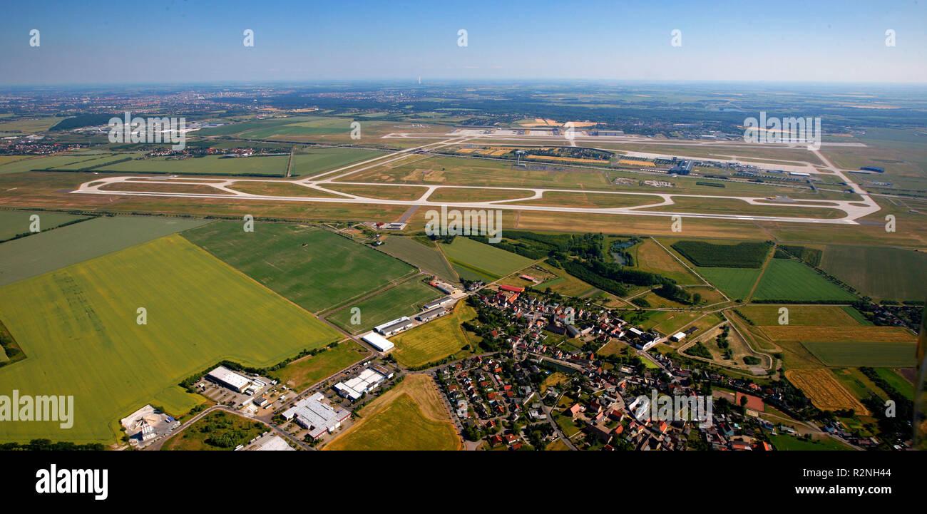 Aerial view, K7443, Schkeuditz, Saxony, Germany, Europe, Stock Photo