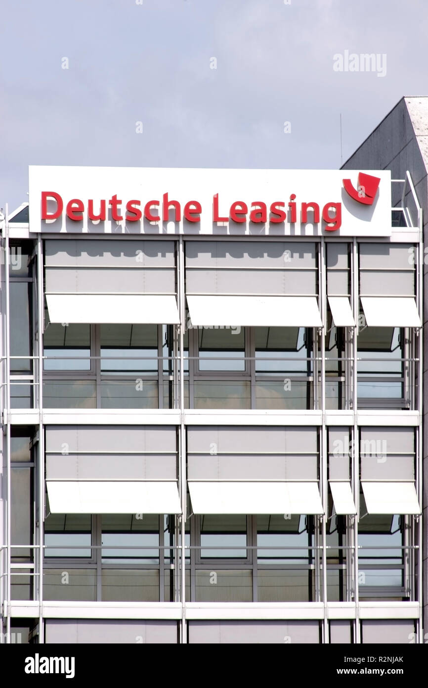Facade of the corporate headquarters of Deutsche Leasing Finanz AG in Bad Homburg, - Stock Image