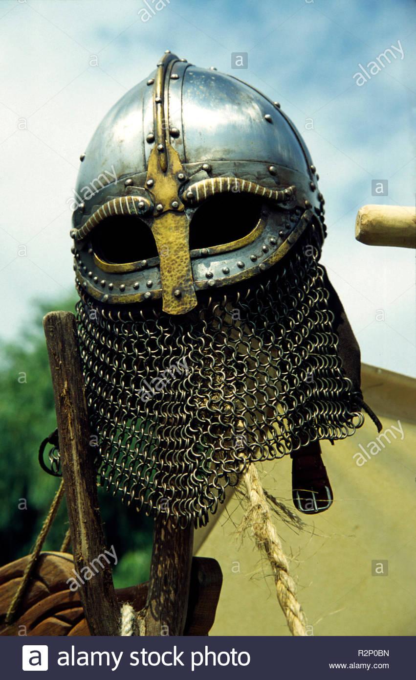 viking helmet - Stock Image