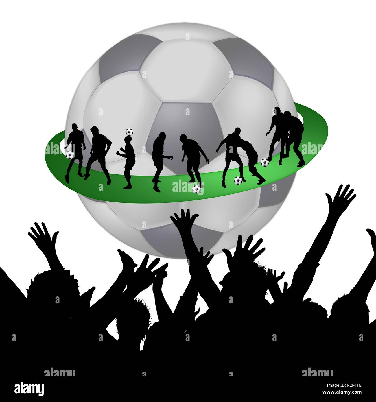fusballfans Stock Photo