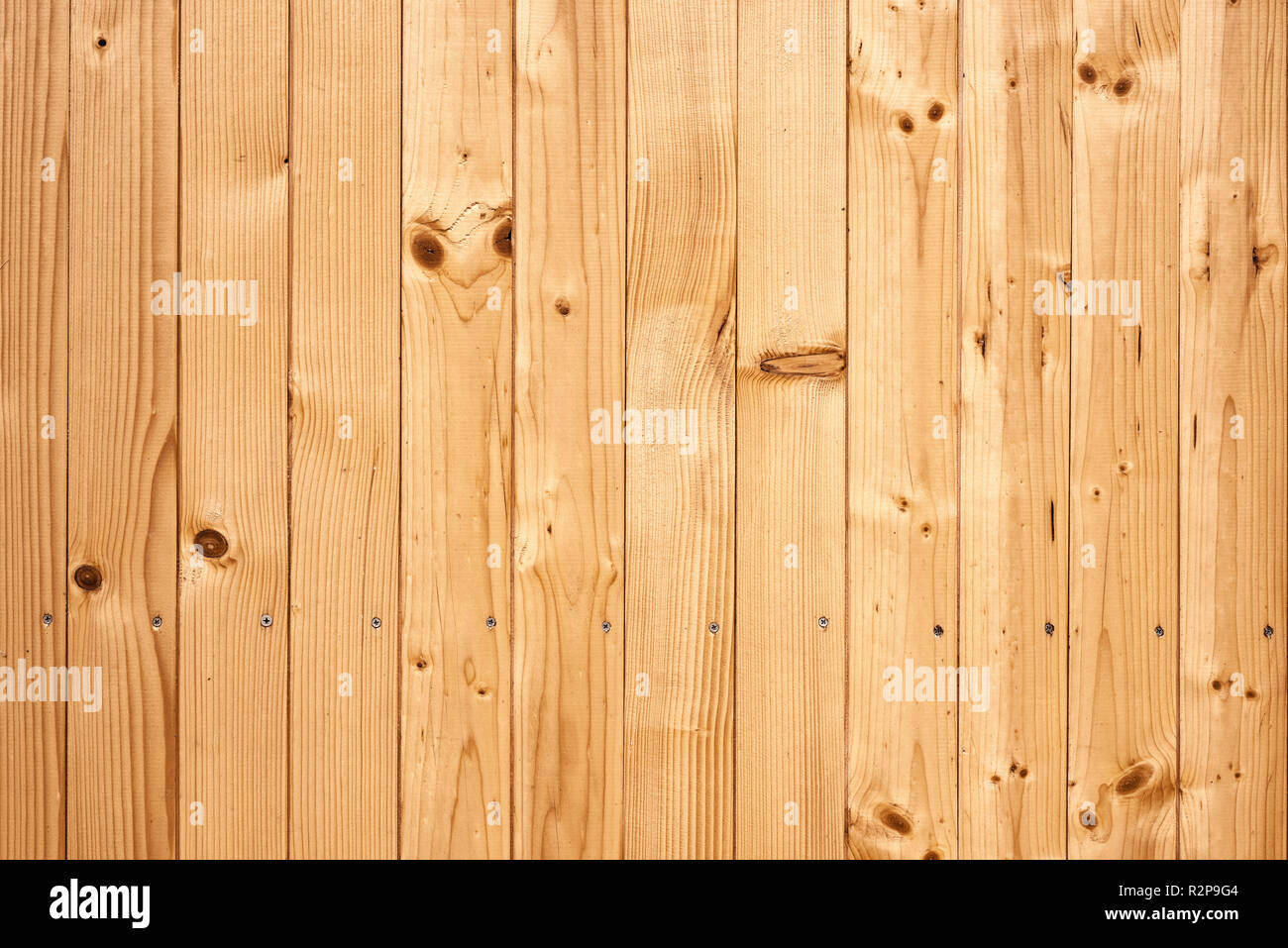 Brown wooden planks surface texture as background - Stock Image