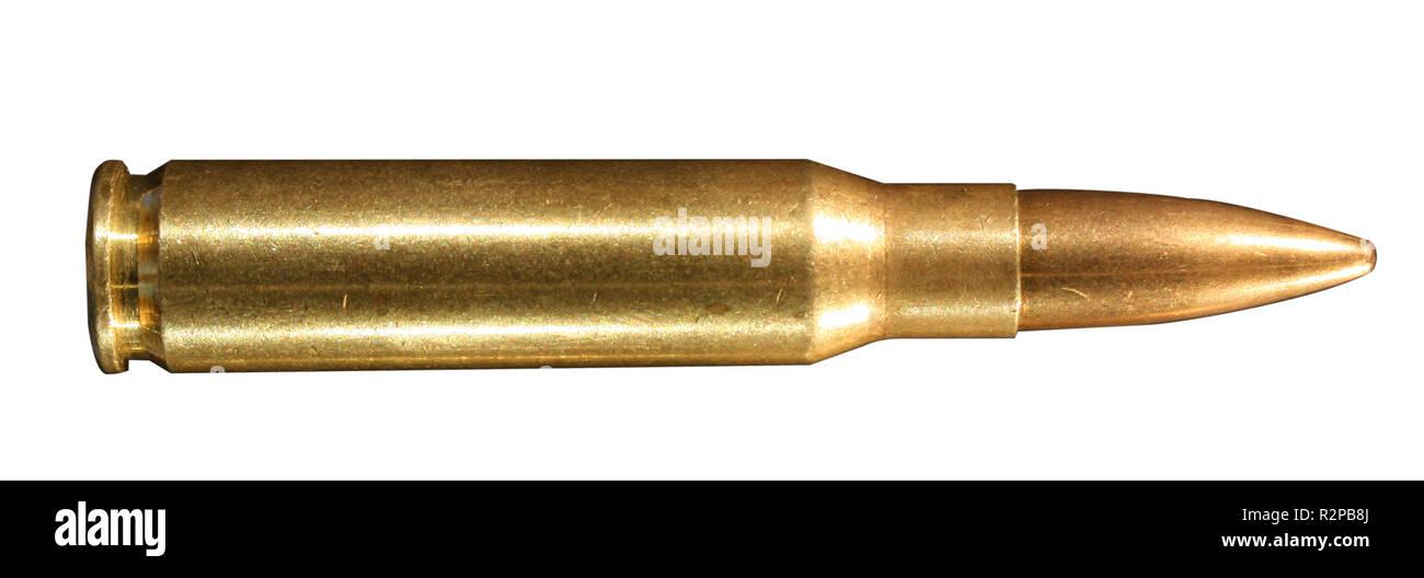 .308 winchester (7.62mx51 nat ammunition - Stock Image