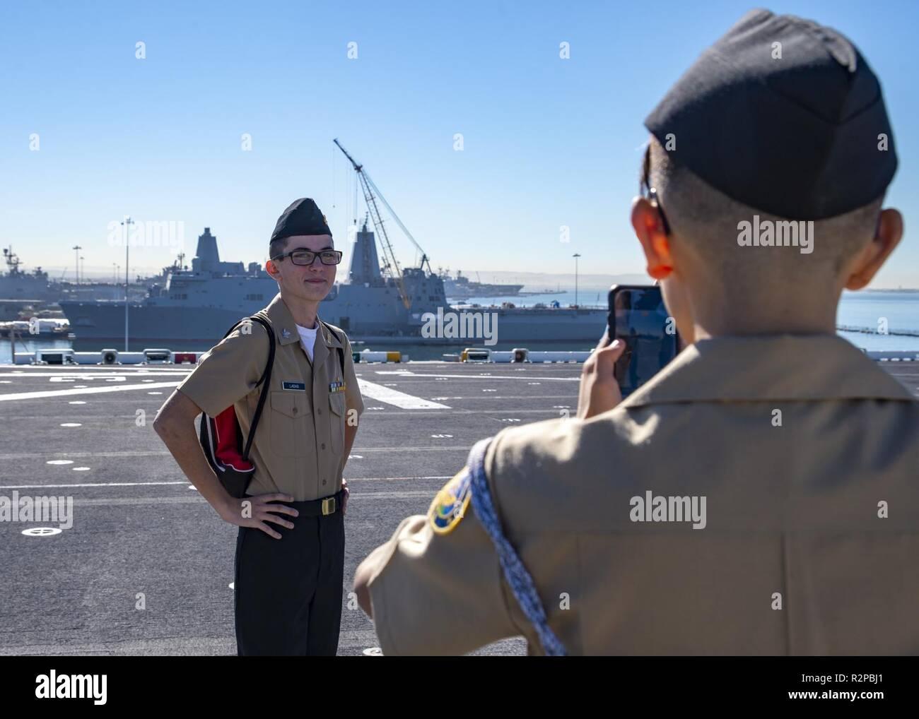 SAN DIEGO (Nov  2, 2018) A Navy Junior Reserve Officer Training