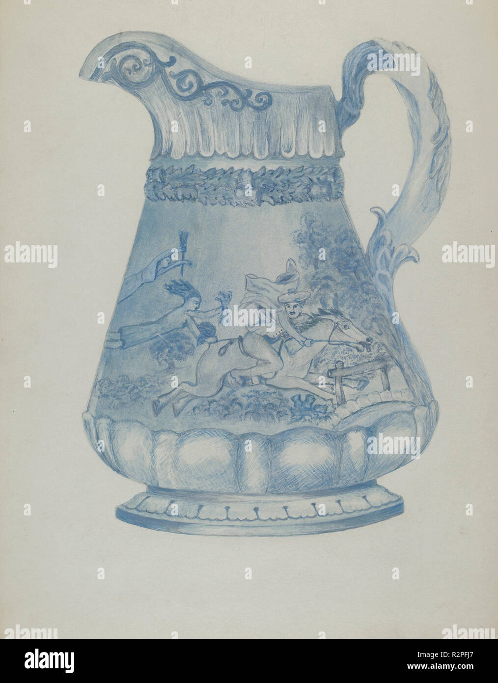Beer Pitcher. Dated: C. 1936. Dimensions: Overall: 30.3 X 23.4