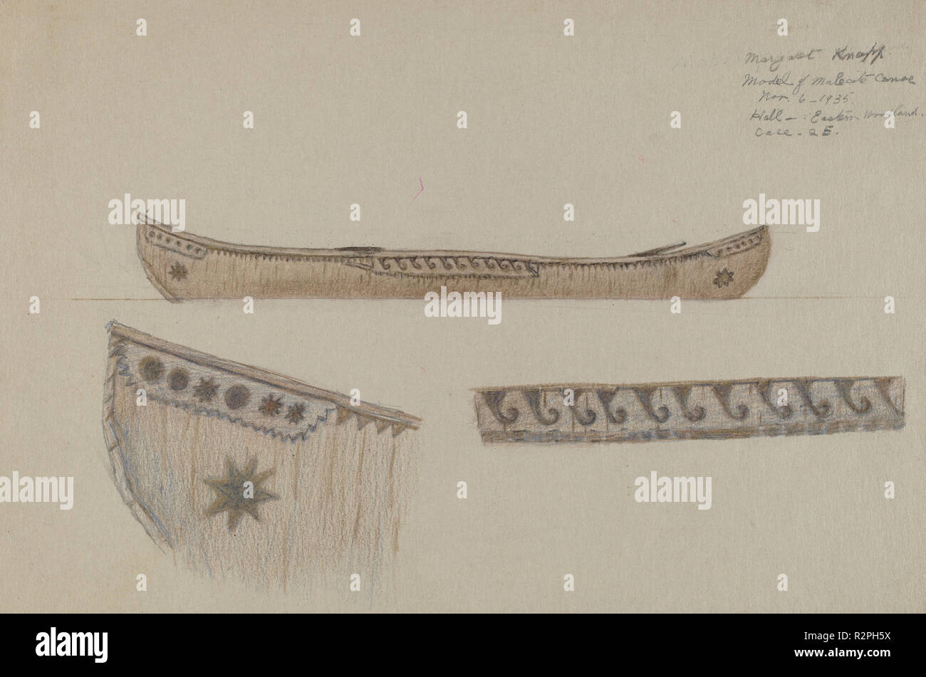 Model of Canoe  Dated: 1935  Dimensions: overall: 14 8 x