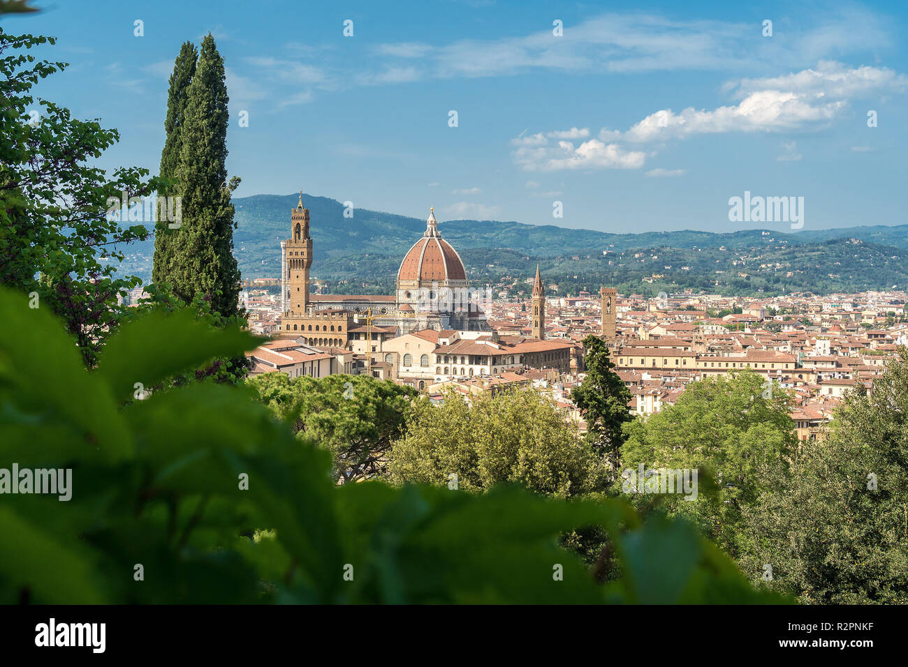 Florence View From Giardino Bardini To The Old Town Stock Photo