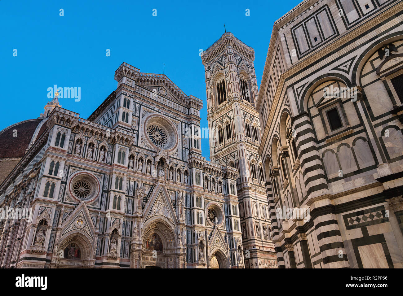 Florence, Cathedral of Santa Maria del Fiore, blue hour - Stock Image