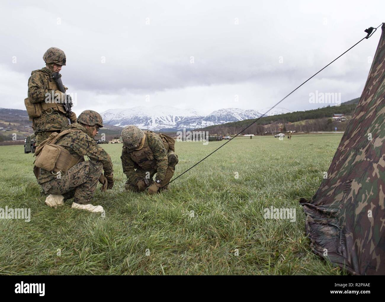 U S  Marines with Echo Battery, 2nd Battalion, 10th Marines