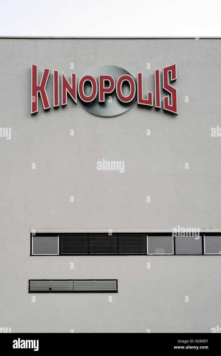 Logo of Kinopolis Group (German cinema company for multiplex cinemas), Darmstadt - Stock Image