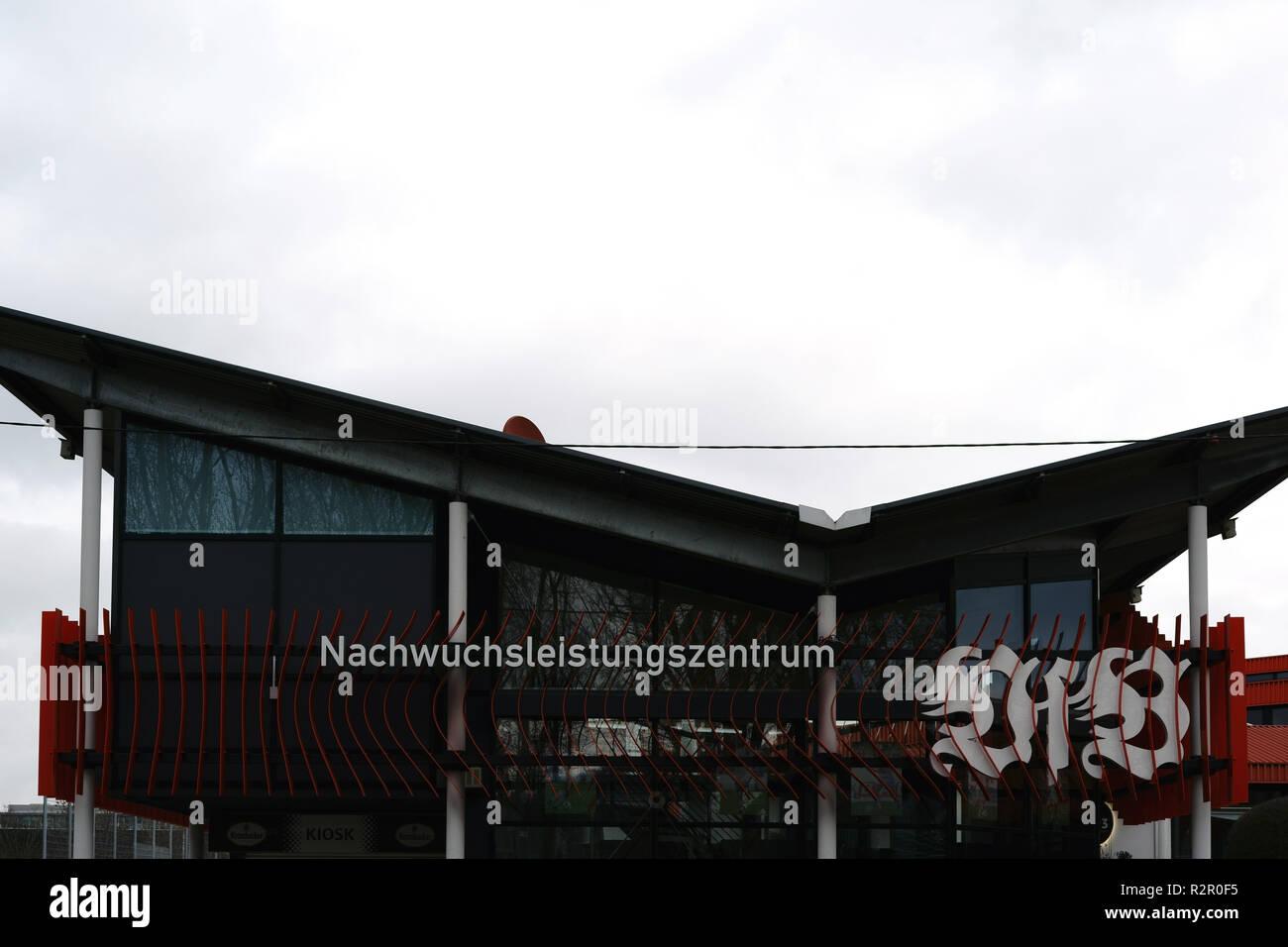 Nachwuchsleistungszentrum' (youth academy) of VFB Stuttgart football club at Mercedes-Benz Arena, Stuttgart - Stock Image