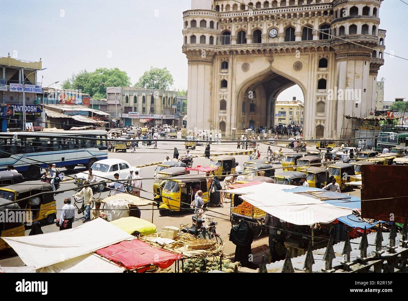 street scene in hyderabad,south india Stock Photo