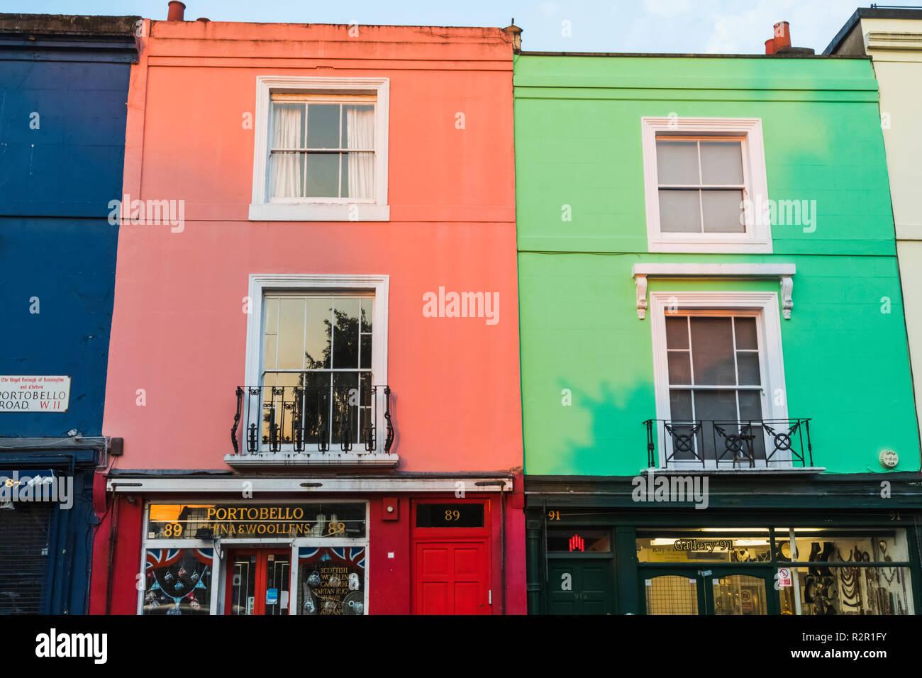 England, London, Notting Hill, Portobello Road, Antique Shops - Stock Image