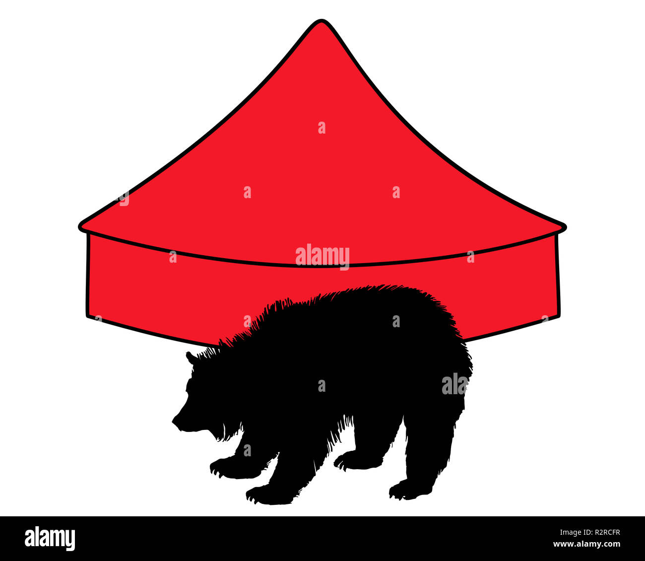 grizzly circus Stock Photo