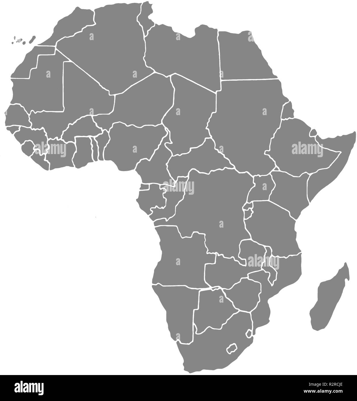 map africa - Stock Image