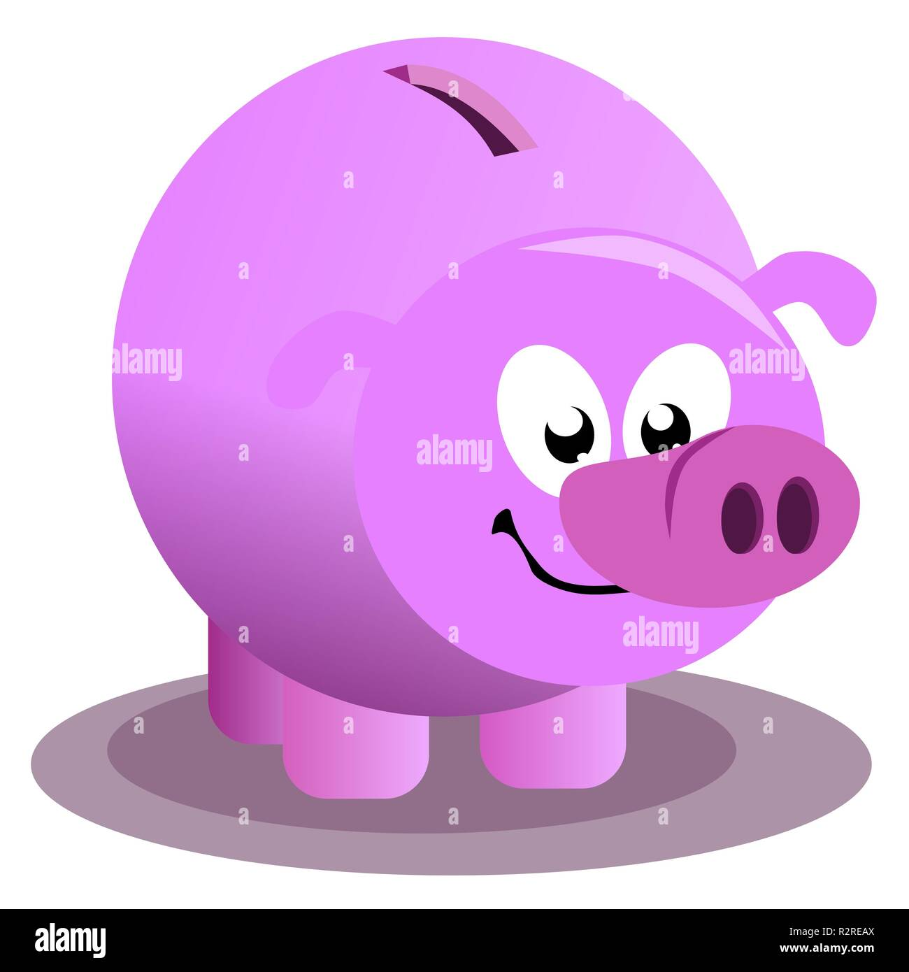 pink piggy bank - Stock Image