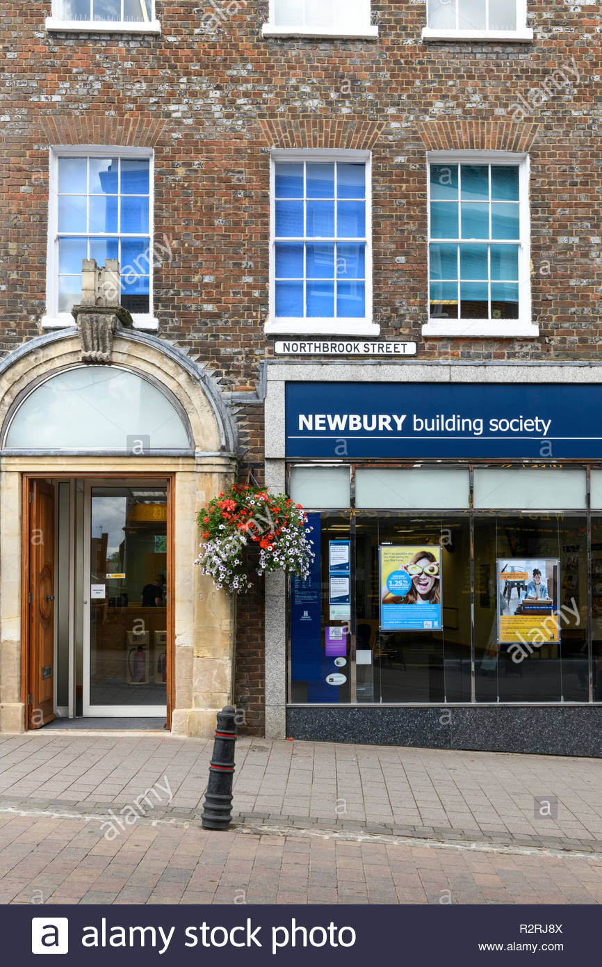 Newbury Building Society, Newbury, Berkshire, England, UK - Stock Image